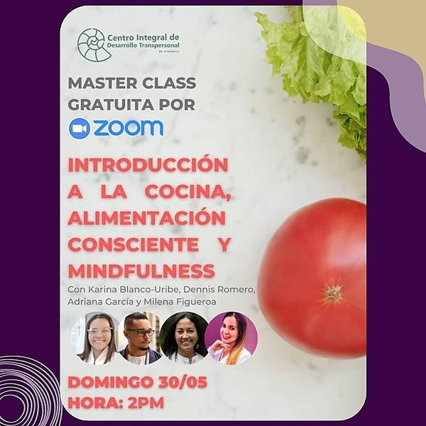 Master Class GRATUITA: Introducción a la Cocina, Alimentación Consciente y Mindfulness