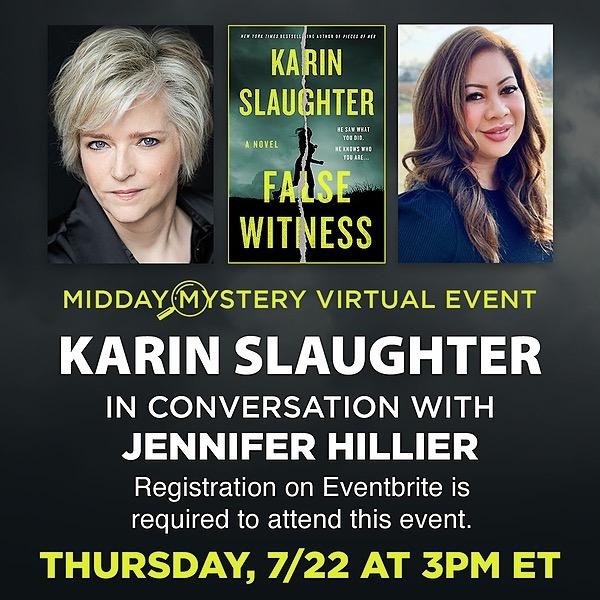 @jenniferhillierbooks Video: B&N presents Karin Slaughter in conversation with Jennifer Hillier Link Thumbnail | Linktree