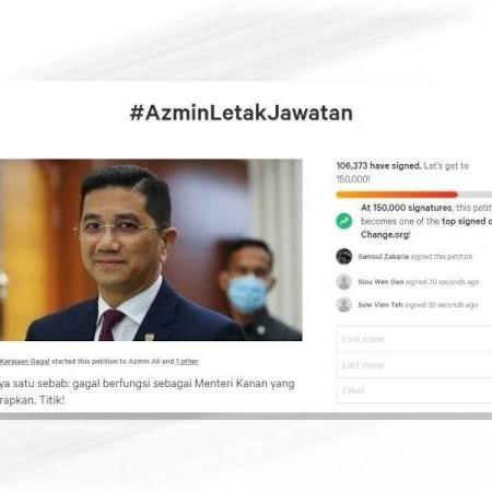 @sinar.harian Petisyen desak #AzminLetakJawatan lebih 100,000 tandatangan  Link Thumbnail | Linktree