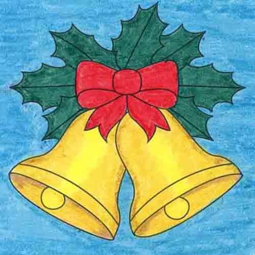 @artprojectsforkids Draw Christmas Bells Link Thumbnail   Linktree