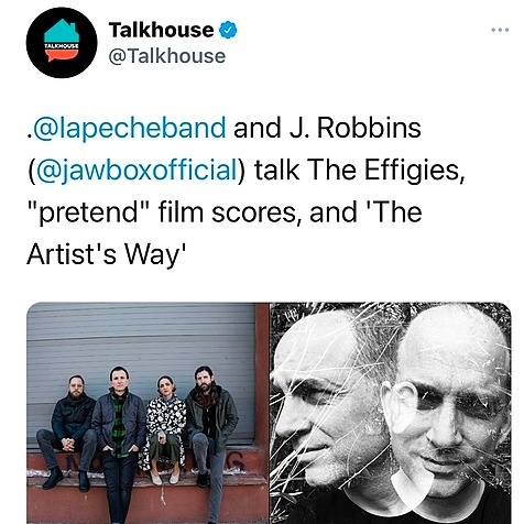 🗣The Talkhouse: LAPÊCHE and J. Robbins on Being the Guy Who Annoys the Engineer