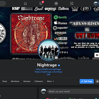 Nightrage official Facebook