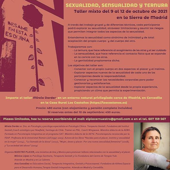 Mireia Darder Sierras de Madrid: Residencial Sexualidad, sensualidad y ternura Link Thumbnail | Linktree