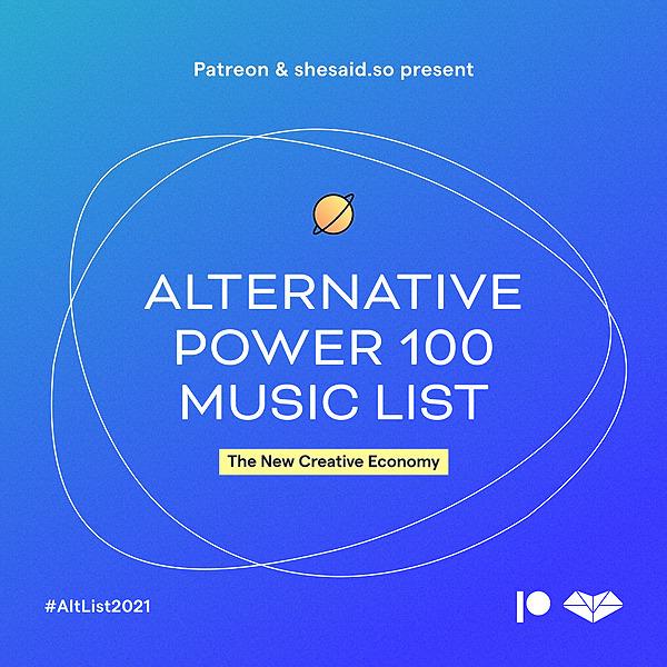 Alternative Power 100 Music List 2021