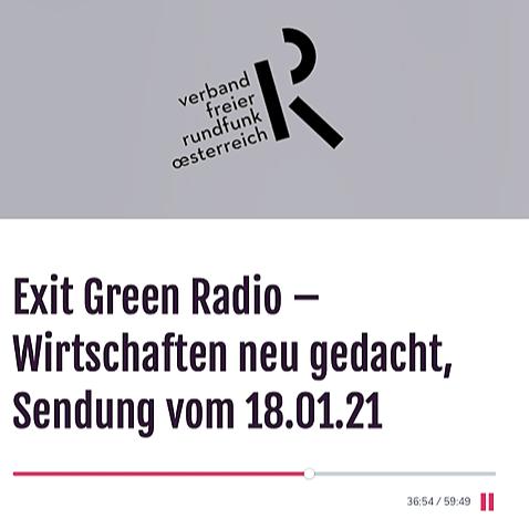 EXIT GREEN Radiointerview mit Johannes Gutmann: Wirtschaft neu gedacht