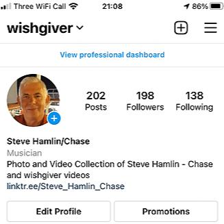 Steve Chase Singer Songwriter Instagram Link Thumbnail | Linktree