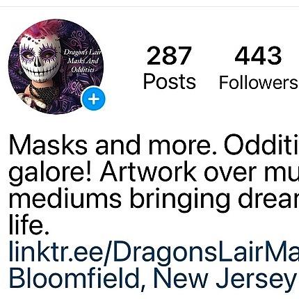 Dragon's Lair Masks Instagram Link Thumbnail | Linktree