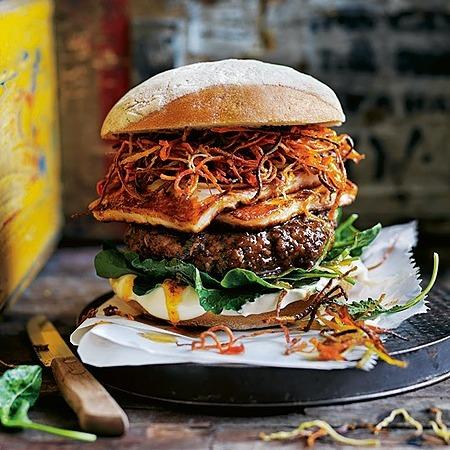 @donnahaymagazine harissa lamb, crispy carrot and haloumi burgers Link Thumbnail   Linktree