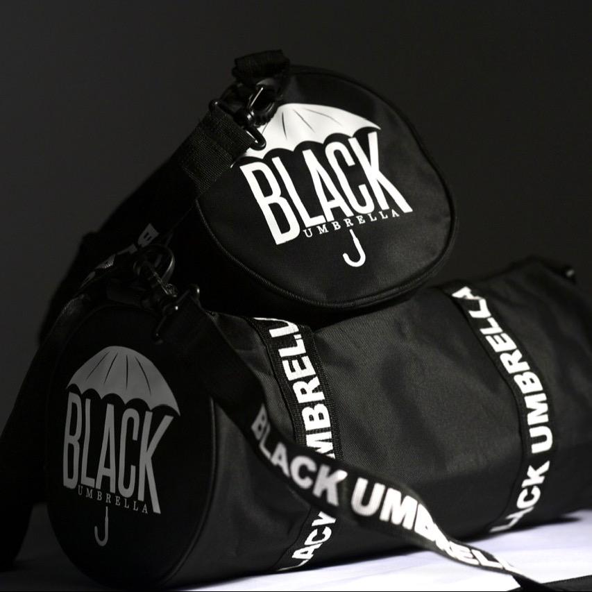 Black Umbrella Mini Duffle Bags