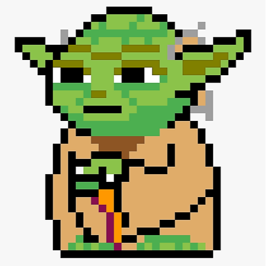 Add & Subtract Integers - Yoda Pixel Art