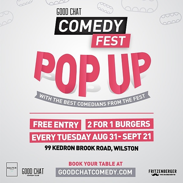@goodchatcomedy Book a table for Tuesdays @ Fritzenberger Wilston! Link Thumbnail | Linktree