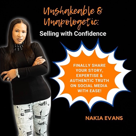 Nakia Evans | Leadership Coach NEW Paperback Workbook: Unshakeable & Unapologetic: Selling with Confidence Link Thumbnail | Linktree