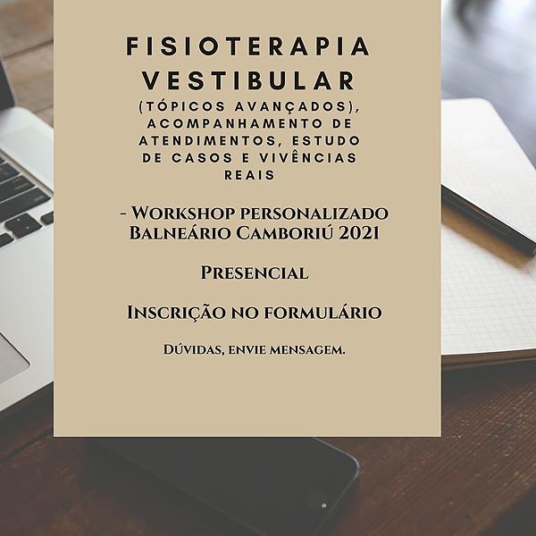 Workshop Personalizado de Fisioterapia Vestibular (Baln Camboriú/SC) - Inscrição