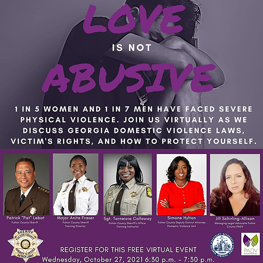 Fulton County Sheriff REGISTER FOR THE DOMESTIC VIOLENCE VIRTUAL SEMINAR: LOVE IS NOT ABUSE Link Thumbnail   Linktree