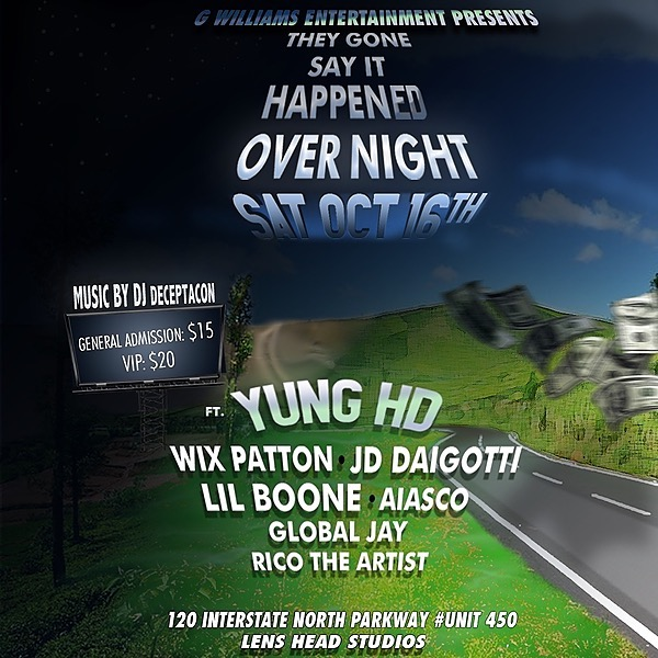 Yung HD They Gone Say It Happened Overnight Show Tickets (ATL) Link Thumbnail   Linktree