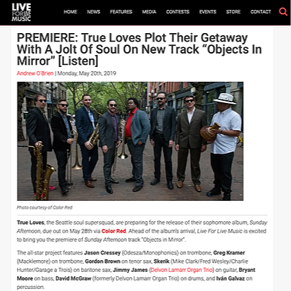 """Live for Live Music Premiere: """"Objects In Mirror"""""""