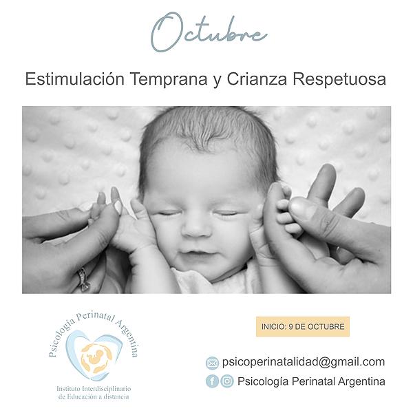 """@Psicologiaperinatalargentina Curso OCTUBRE: """"ESTIMULACIÓN TEMPRANA Y CRIANZA RESPETUOSA"""" Link Thumbnail   Linktree"""
