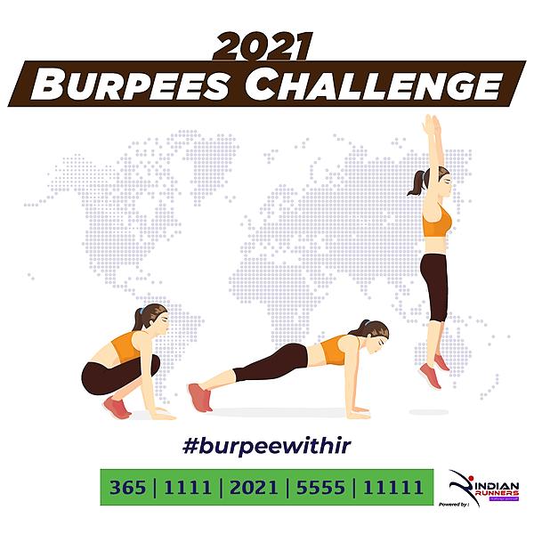 @IndianMarathon Burpees Challenge 2021 Link Thumbnail | Linktree