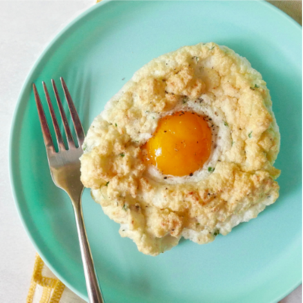 """Cheesy Egg """"Clouds"""""""