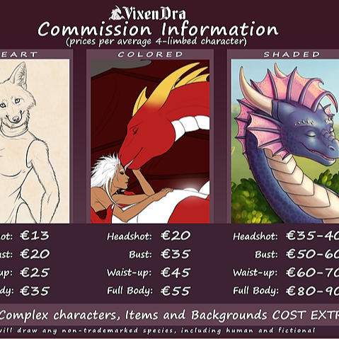 @VixenDra Commission Info & status Link Thumbnail | Linktree