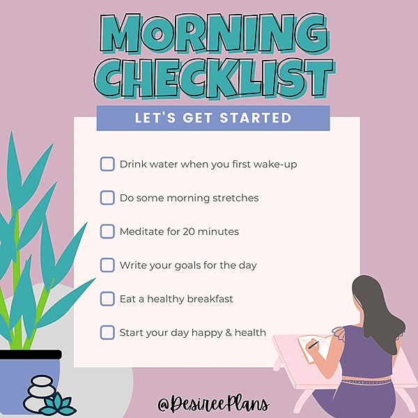 @DesireePlans 💖 Affiliate Morning Checklist 🥰 YOU GOT THIS!! Link Thumbnail | Linktree