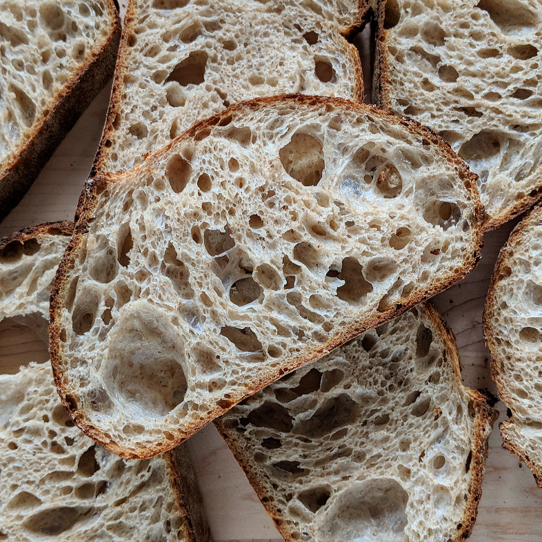 Basic Method for Open Crumb Sourdough Bread***
