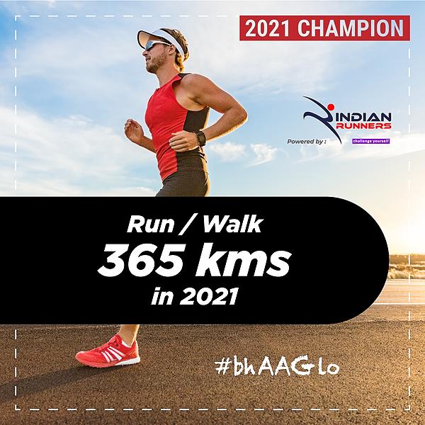 Indian Walkathon Walk 365 Kms in 2021 Link Thumbnail | Linktree