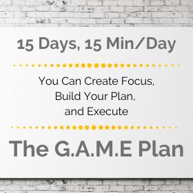 The G.A.M.E Plan for Goal Setting & Execution  - Mini Course