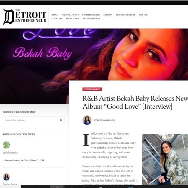Article : Detroit Entrepreneur : Good Love album