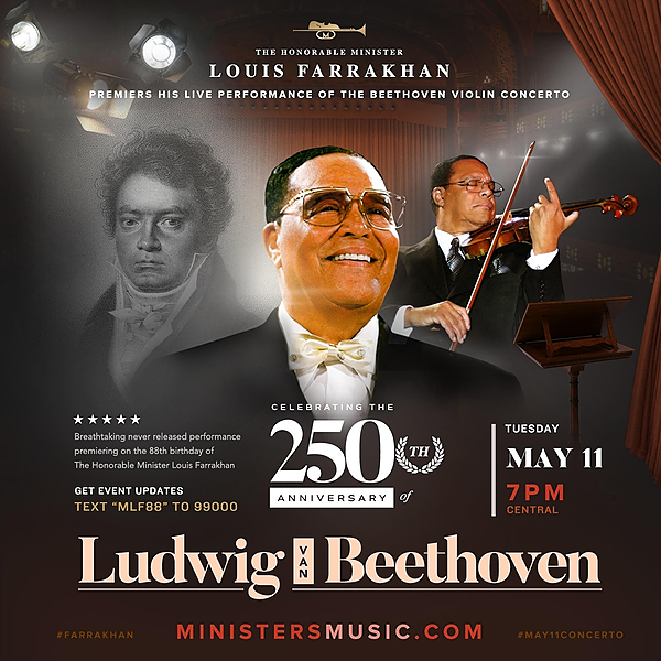 @NOIYouth Minister Louis Farrakhan | Beethoven Violin Concerto Link Thumbnail | Linktree