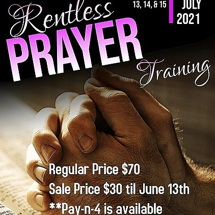 @DivineInGodMinistries Relentless Prayer Training Link Thumbnail | Linktree