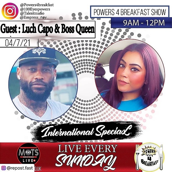 """LUCH CAPO LUCH CAPO ON POWERS4BREAKFAST SHOW  """"OVERSEAS CONNECT"""" FULL Interview  Link Thumbnail   Linktree"""