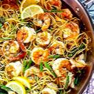 Lemon Garlic Shrimp Pasta Recipe