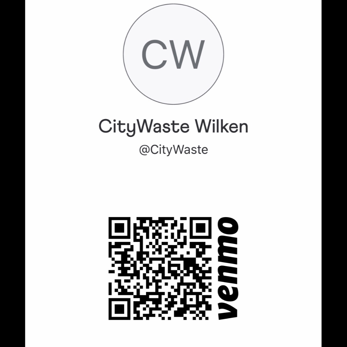 @CityWasteUnion Venmo Donations Link Thumbnail | Linktree