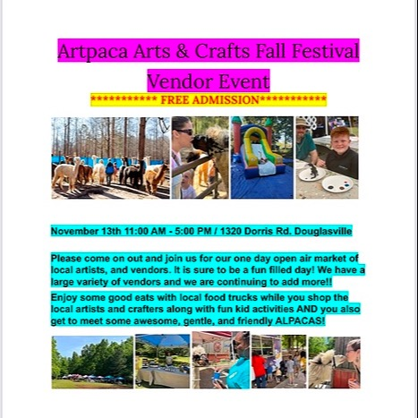 """""""Alpacas Make You Smile®"""" Arts & Crafts, Food & More Event Link Thumbnail 