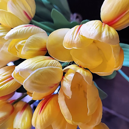 Real Touch Yellow Tulips