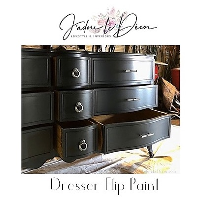 """Velvet Finishes the Paint Used in Dresser Flip """"Luxurious"""""""
