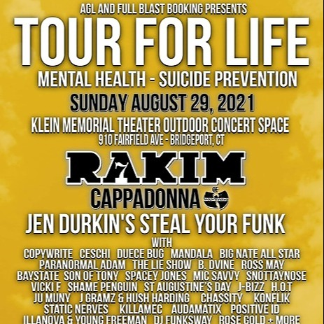 Full Blast TOURFORLIFE 8/29 CT feat. RAKIM, CAPPADONNA, Jen Durkin's Steal Your Funk, Ceschi +more Link Thumbnail | Linktree
