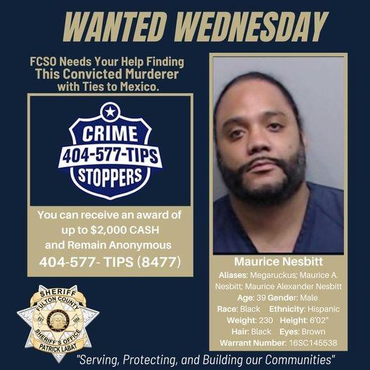Fulton County Sheriff America's Most Wanted- Maurice Nesbitt Link Thumbnail   Linktree