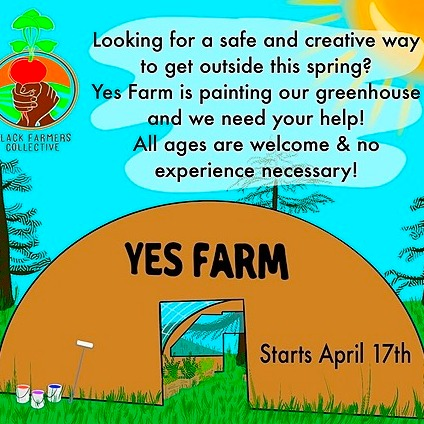 Yes Farm Greenhouse Community Mural Class Sign-Up