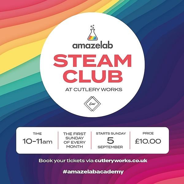 @Amazelab Amazelab STEAM Club at Cutlery Works, Sheffield  Link Thumbnail | Linktree