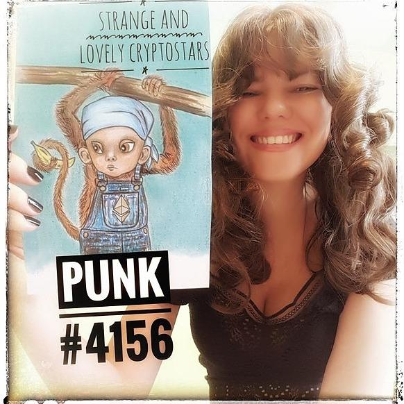 Jenina Crypto Strange and Lovely CryptoStars. OpenSea Link Thumbnail | Linktree