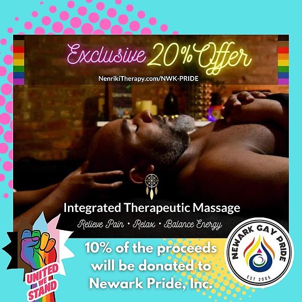 Newark Pride Festival 2021 GET A NENRIKI MASSAGE! 20% OFF Link Thumbnail | Linktree
