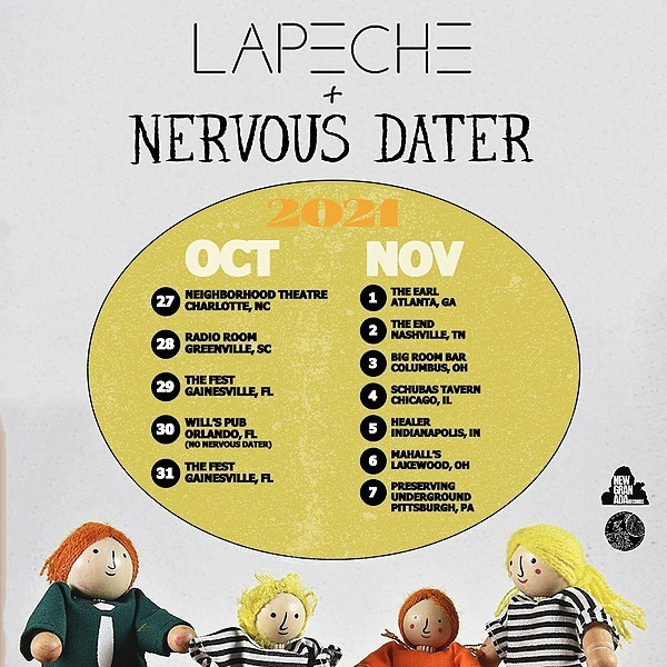 LAPÊCHE 🤘Brooklyn Vegan: LAPÊCHE & Nervous Dater touring together this fall around The Fest Link Thumbnail   Linktree