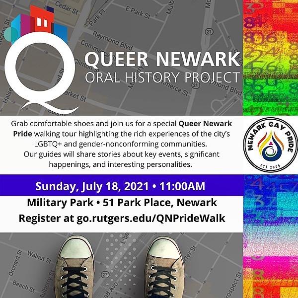 Newark Pride Festival 2021 Queer Newark Oral History Walking Tour Link Thumbnail | Linktree