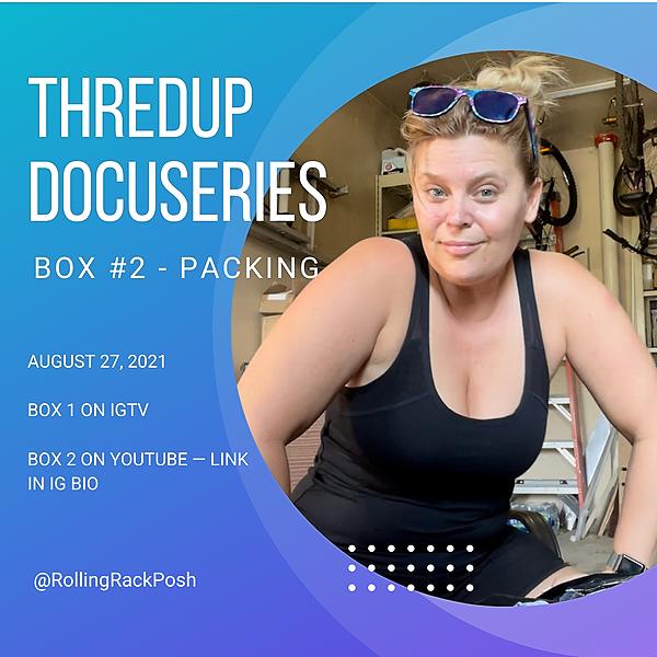 @rollingrackposh ThredUp Docuseries Box 2 YouTube Video Link Thumbnail | Linktree