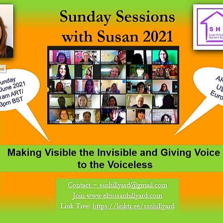 @ssnhillyard June 6th Sunday Session with Susan: Making Visible the Invisible and Giving Voice to the Voiceless Link Thumbnail | Linktree