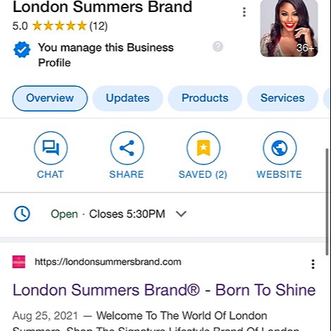 LONDON SUMMERS London Summers Brand on Google Search Link Thumbnail | Linktree