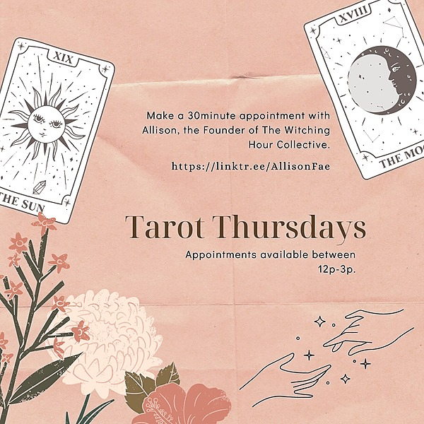 Intentional Based Business. Tarot Thursdays Menu and Pay Link Link Thumbnail | Linktree