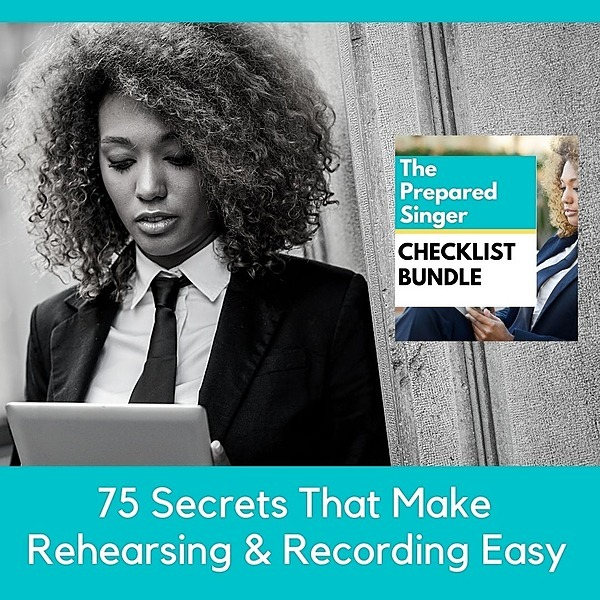 THE PREPARED SINGER CHECKLIST E-BUNDLE $37 vs. $97